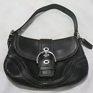 Authentic Coach Mini Black Leather Handbag